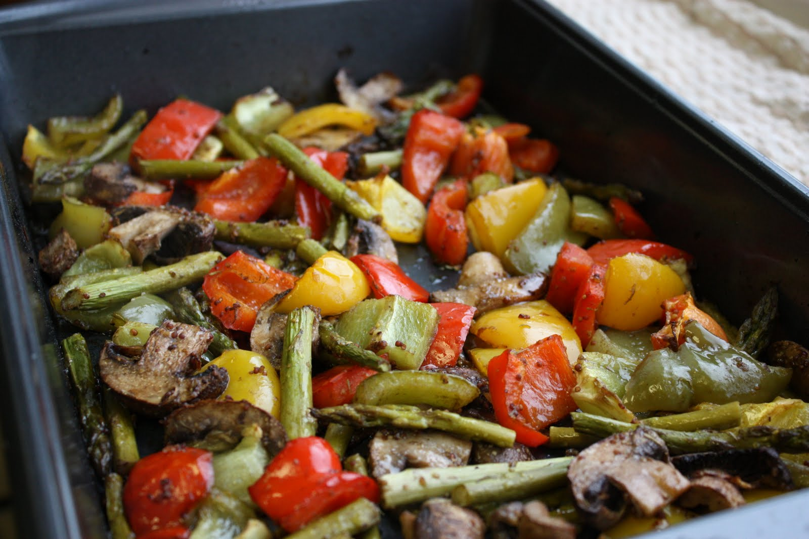 Balsamic-Dijon Roasted Vegetables - Get Off Your Tush and Cook!
