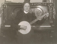 Unidentified woman playing banjo