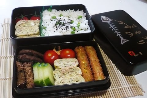 bento lunch blog bento 11 thunfisch kr uter tamagoyaki mit erbsenreis. Black Bedroom Furniture Sets. Home Design Ideas
