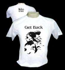 "The Beatles ""Get Back"" - Camiseta (P,M ou G) - R$ 29,00 + frete"