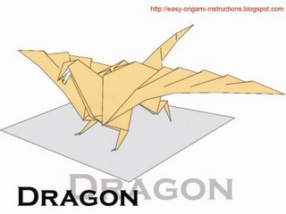 Here is origami instructions to fold a Dragon  It is easy to follow  Origami Dragon Instructions Advanced
