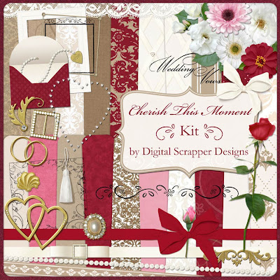 Looking at life 2 wedding digital scrapbook kit for Album ds templates