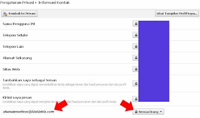 Cara Menyembunyikan Alamat Email facebook