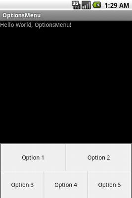 Create OptionsMenu in /res/menu/menu.xml