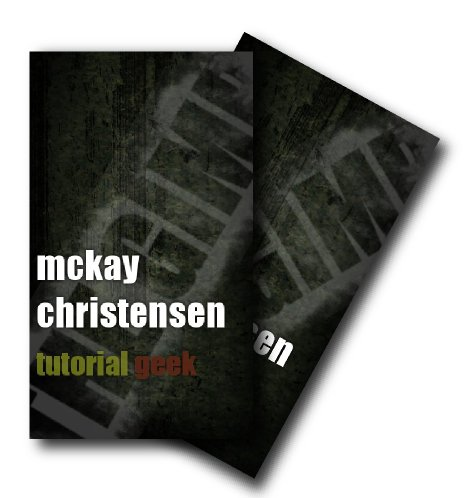 Create a grunge business card using the gimp tutorial geek your grunge business card colourmoves