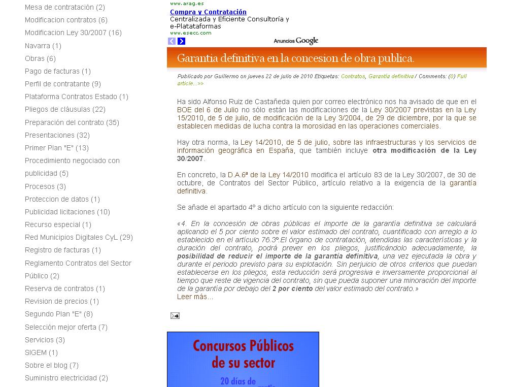 Modificacion de garantia definitiva en la concesion de obra p blica fiscalizacion local - Caja espana oficina virtual ...