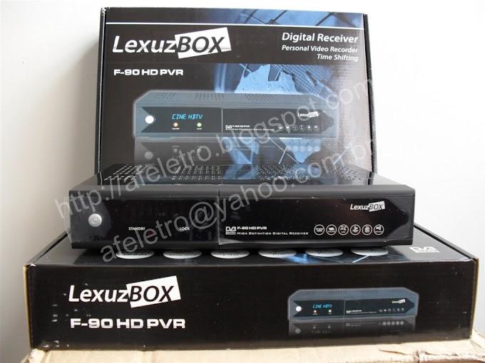 Nova Atualização LEXUZBOX F90 DATA 27/12/2012