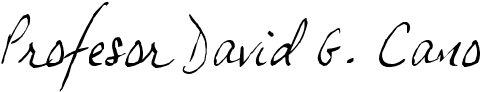 Profesor David G. Cano