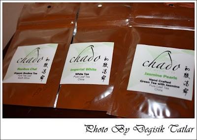 Chado Organik Çay ( Chadō Rooibos Chai,Imperial White,Jasmine Pearls)