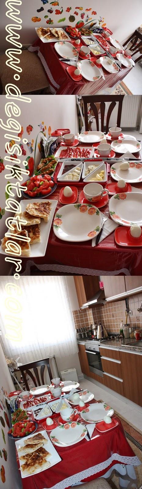 Kahvaltı Sofrası & Tava Böreği Tarifi