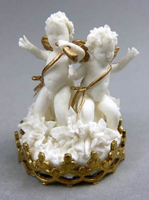 Miniature Angel Sculpture from Maria Victoria Heredia Guerbos