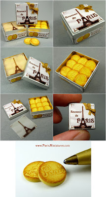 Paris Miniatures - Souvenir de Paris miniature French butter cookies in a gift presentation tin