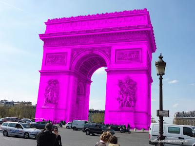 Pink Arc de Triomphe