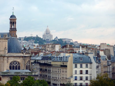 Sacré Coeur seen from the Novotel Hotel, Les Halles, Paris