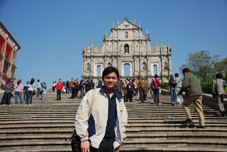 At Ruin of St Paul, Macau...Nice landscape