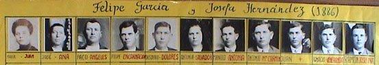 LOS DESCENDIENTES DE FELIPE Y JOSEFA