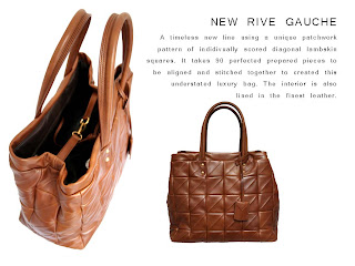 370600face Introducing the New Rive Gauche. A new classic exhibiting the highest level  of quality and craftsmanship.
