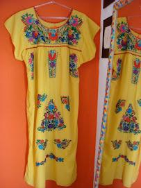 Vestido Mexicano em várias cores