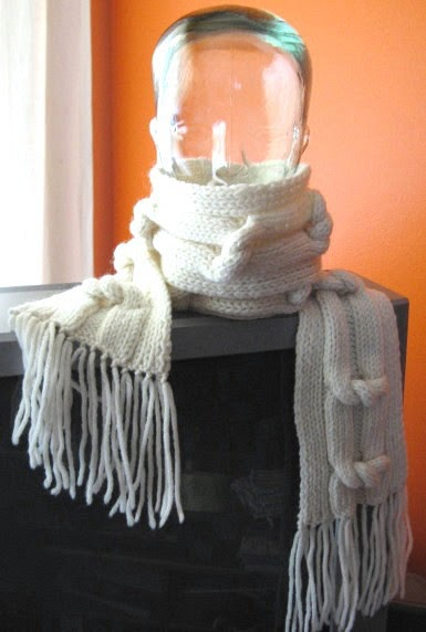 My Knitting Basket: Twisted Ladder Scarf