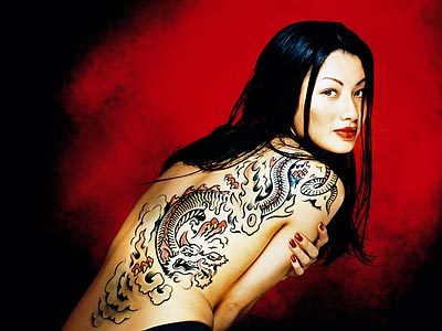 Dragon Tattoo on Gui  Os Lagrimas Perlas  El Abrazo Del Drag  N