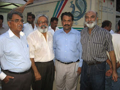 Writer picture with legendary Sindhi writers
