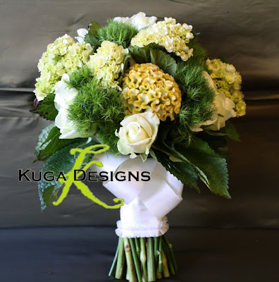 Green Dianthus Ball Bouquet