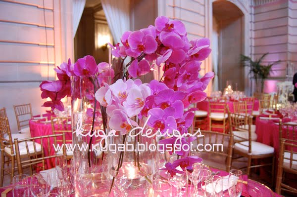 Fuchsia orchids wedding
