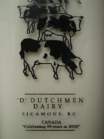 A bottle of Dutchmen Dairy cream