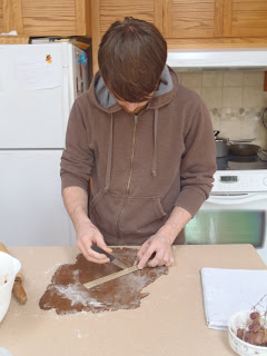 Cutting the gingerbread