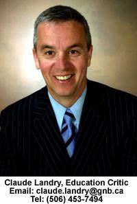 Claude Landry Education Critic