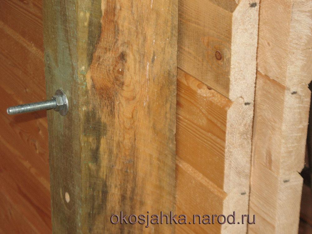 Выравнивание деревянных стен своими руками 50