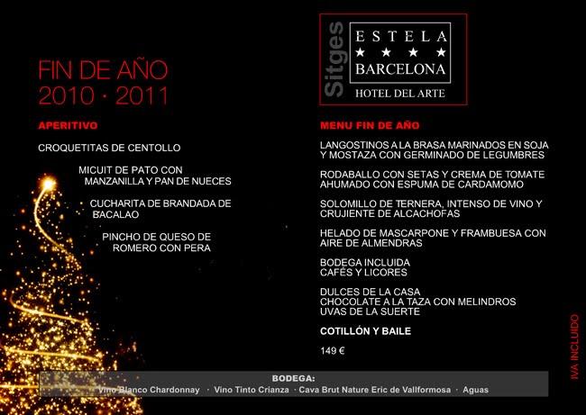 Hotel estela barcelona sitges hotel del arte sitges - Menus para fin de ano ...