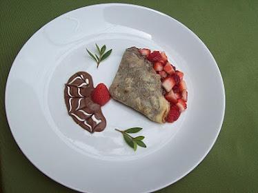 Crepe de chocolate e morangos, Meu crepe preferido!