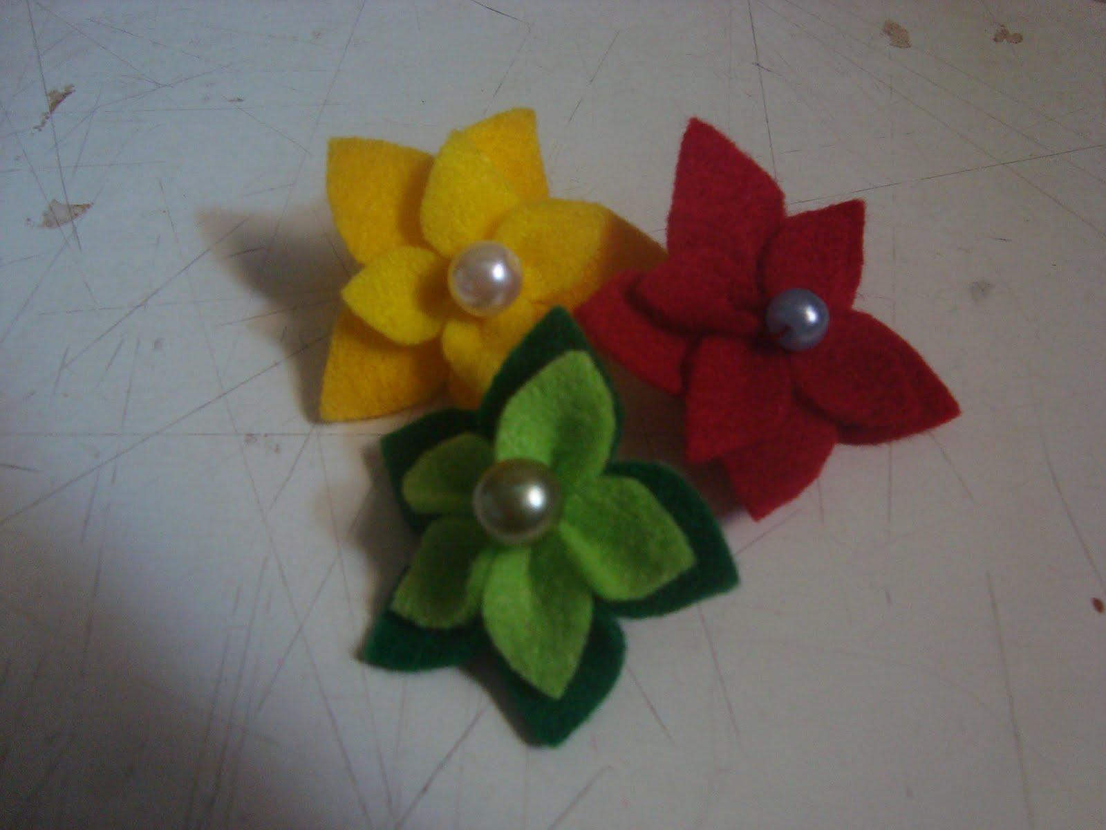 Cara membuat Pin Bunga Cantik
