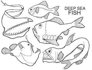 Deep Sea Fish Coloring Pages