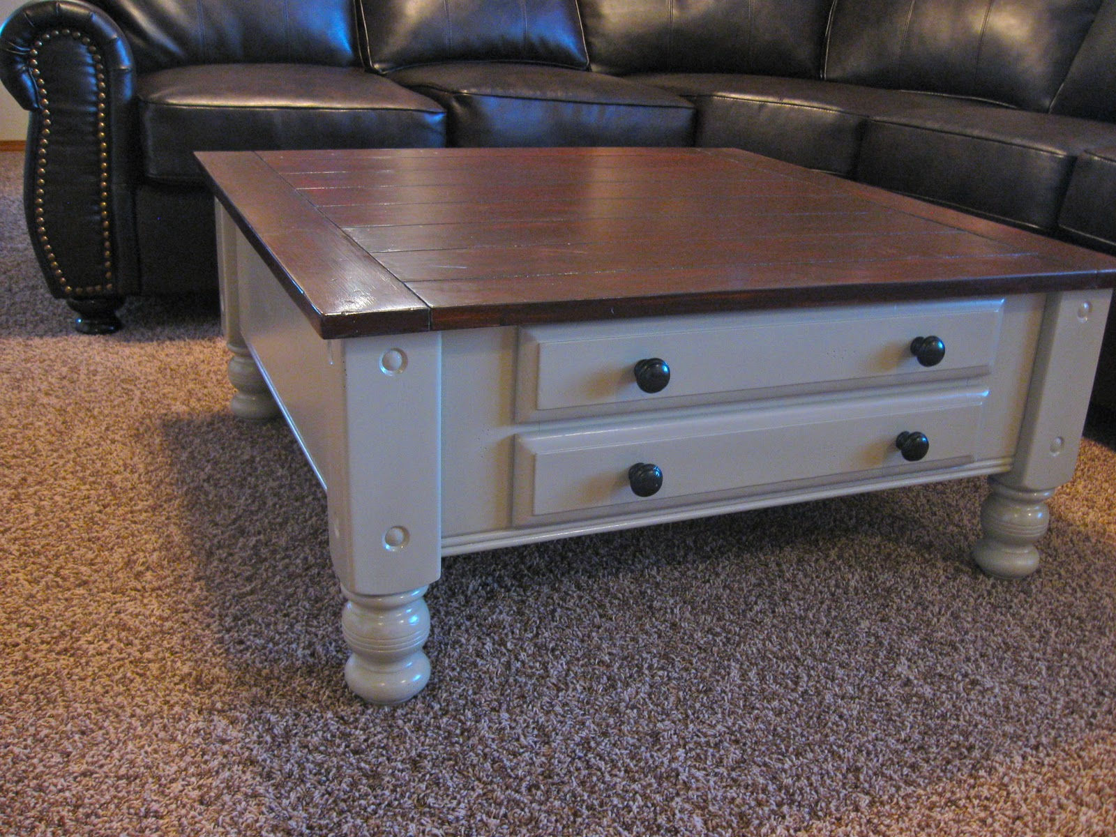 Improving on one39s life coffee table refinished for Refinishing a coffee table ideas