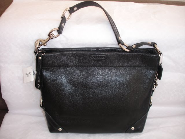100% AUTHENTIC COACH LEATHER CARLY HOBO BLACK F15251 NWT