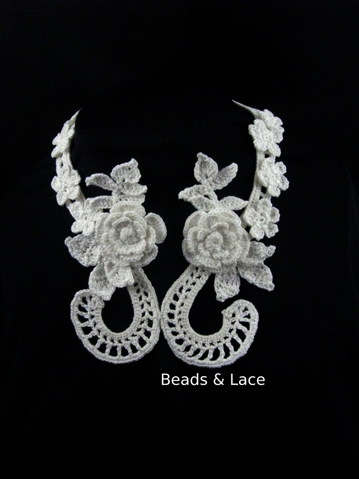 Beads lace irish crochet jewelery irish crochet jewelery bankloansurffo Gallery