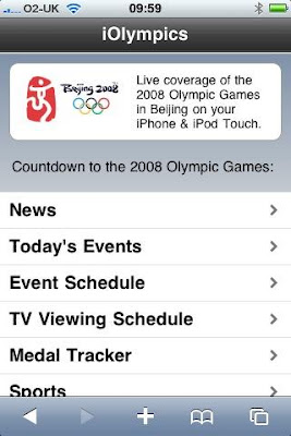 iOlympics iPhone