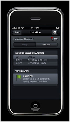 iPhone Application for Surfers