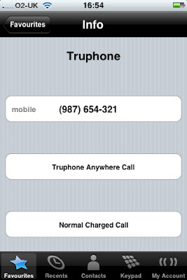 Truphone offers a free iPhone-to-iPhone call