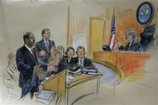 (Courtroom sketch by AP Photo/Dana Verkouteren - reprinted without permission)