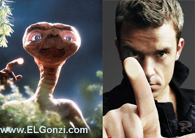Robbie Williams and E.T.