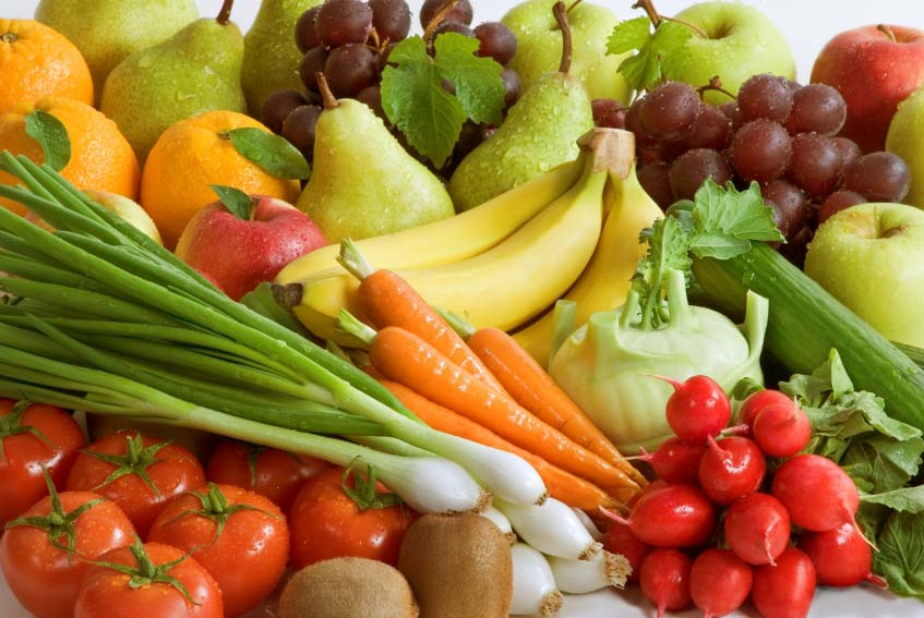 veggies and fruits. More fruits vegetables are