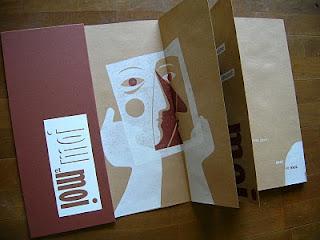 livre d'artiste en linogravure de Brigitte Rio