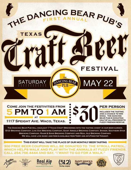 Craft beer usa the dancing bear pub and a beer fest for Texas craft brewers festival