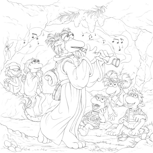 fragle rock coloring pages - photo#12