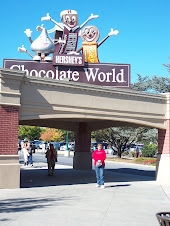 Jeri in heaven....oops....Chocolate World!