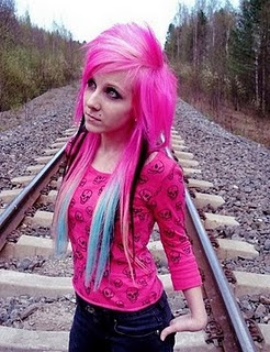 Colouring Emo Hair Styles Long Hair