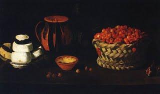 """[Josefa+de+Ã""""bidos[1][1].+Natureza+morta,+Barros+e+cesto,+queijo+e+cerejas.+sem+data]"""